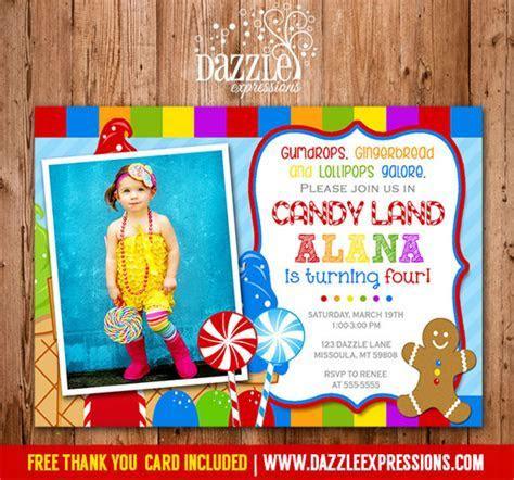Printable Candy Land Birthday Invitation   Sweet Shop