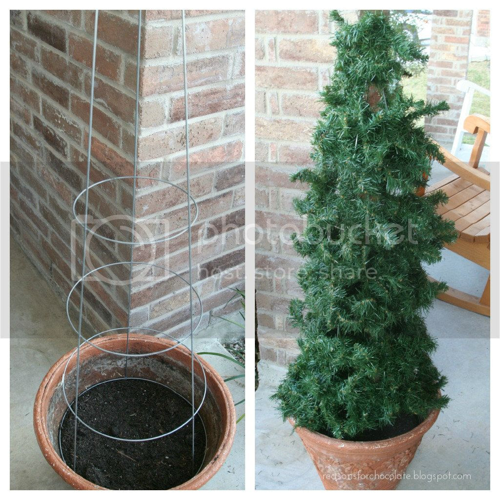 Tomato Cage Christmas Tree.Reasons For Chocolate Tomato Cage Christmas Tree