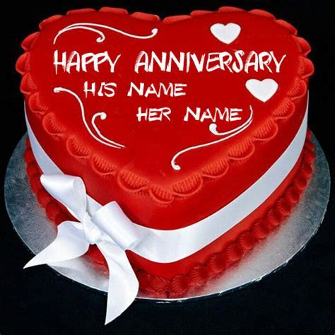 Write Name on Wedding Anniversary Cake Online
