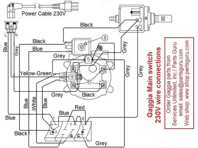 Gaggia Classic Parts Diagram