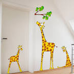 Kids Bedroom. Cute Kids Wall Stickers Decoration Ideas: Cute Cow ...