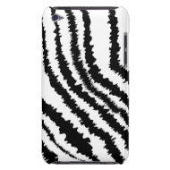 Black Zebra Print Pattern. iPod Case-Mate Cases