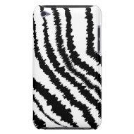 Black Zebra Print Pattern. iPod Case-Mate Cases