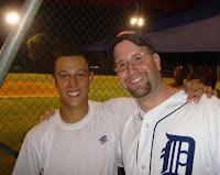 Justin Prinstein and Rabbi Jason Miller (Israel Baseball League)