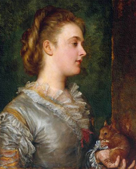 Retrato victoriano prerrafaelista inglés por Watts.