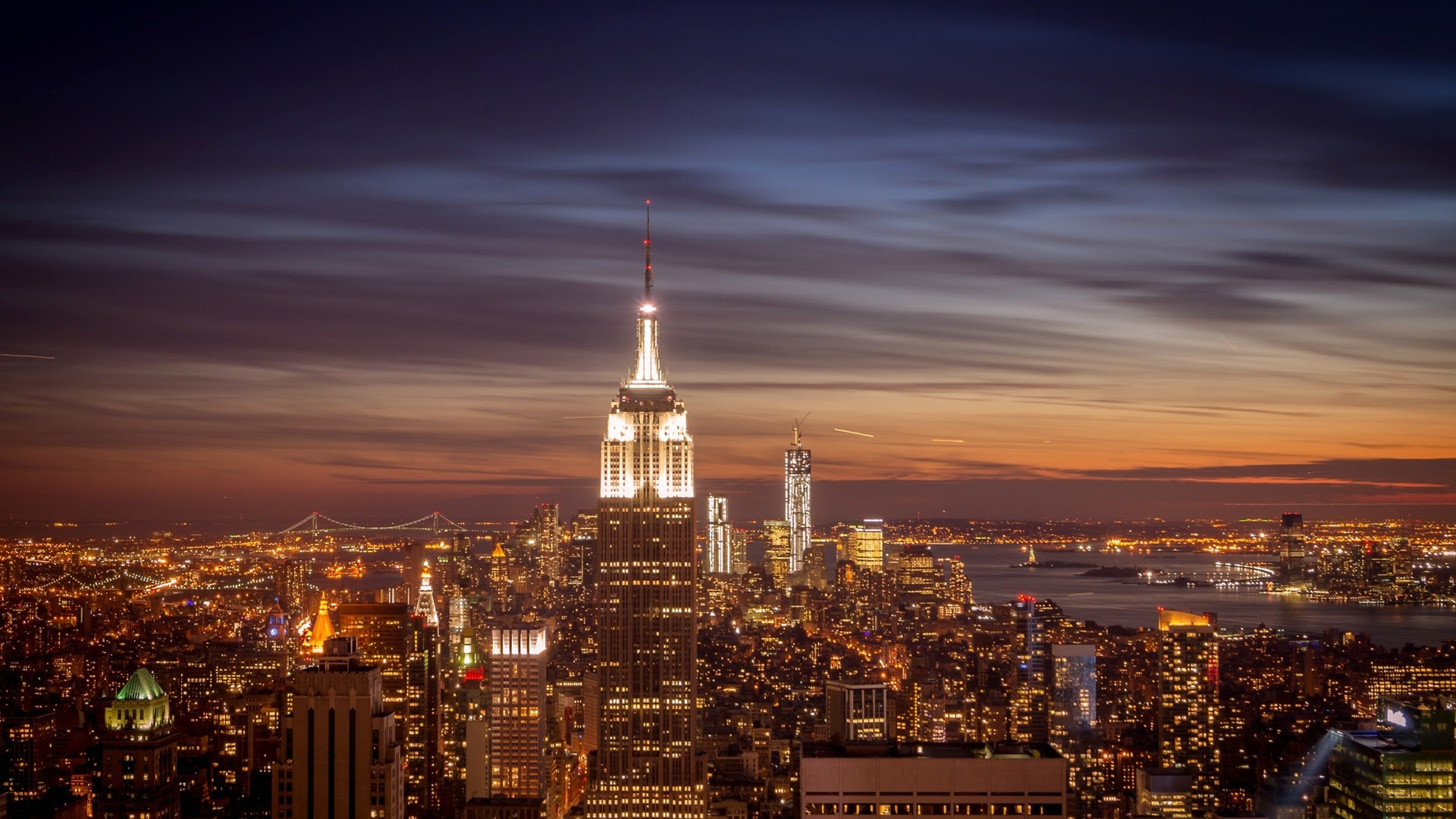 Empire State Building In New York City Night Hd Wallpapers