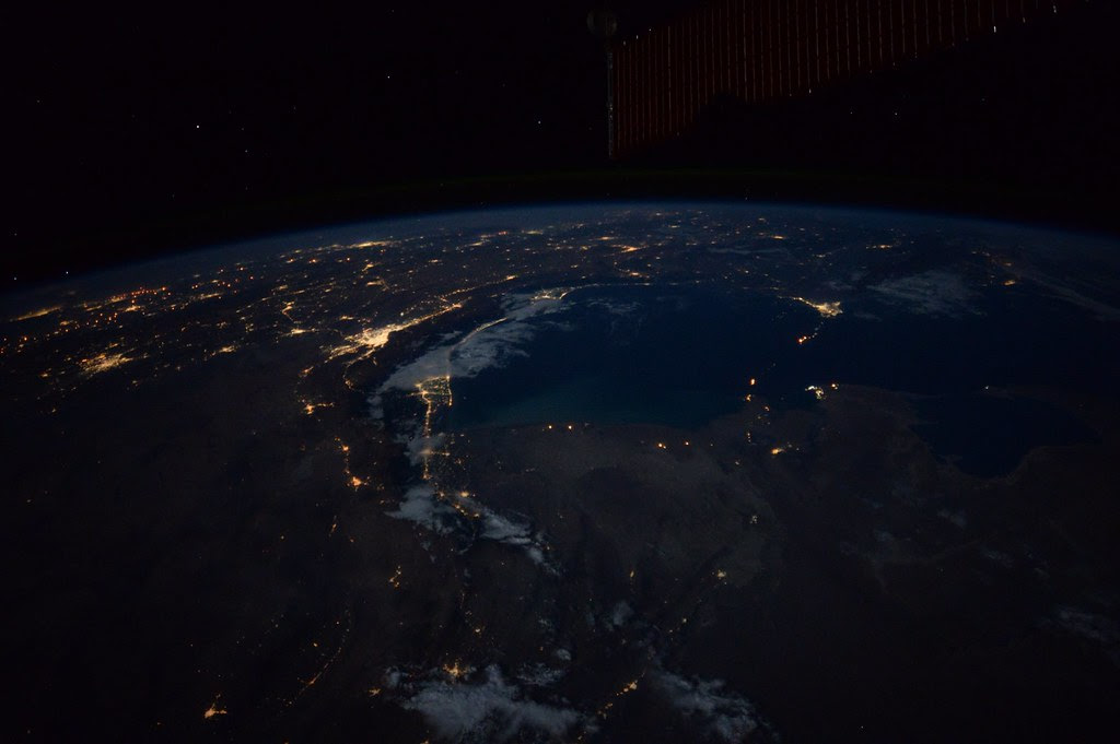 Earth At Night From The Iss Nasa Astronaut Kate Rubins
