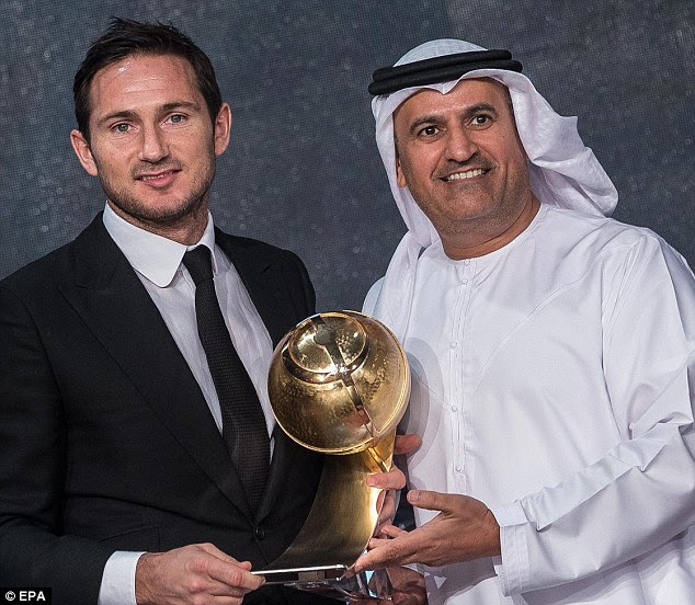 Pirlo's New York City team-mate Frank Lampard received the same award after a spectacular career