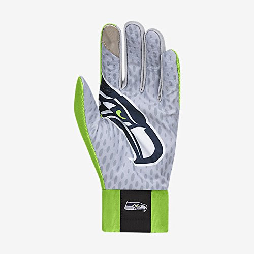 Nike Seattle Seahawks Stadium Lock Up NFL Gloves Mens Large L Sporting Goods Team Sports