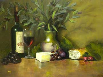 Ferial Nassirzadeh Wine, Cheese and Bread