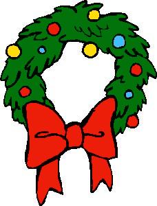 Free Christmas Wreath Clipart