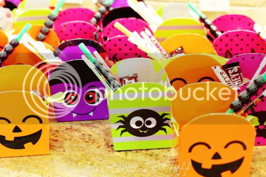 Halloween Party Treat Buckets