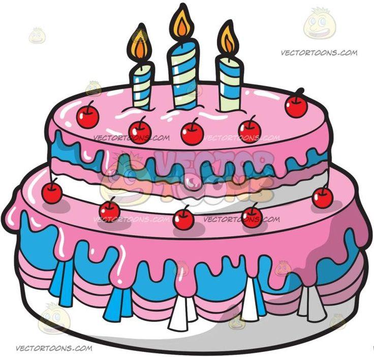 Clip Blue Art Birthday Cake