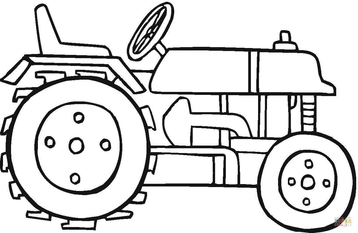 Ausmalbild: Moderner Traktor | Ausmalbilder kostenlos zum ...