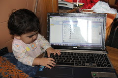 Laptop Gives Birth To A Child Nerjis Asif Shakir by firoze shakir photographerno1