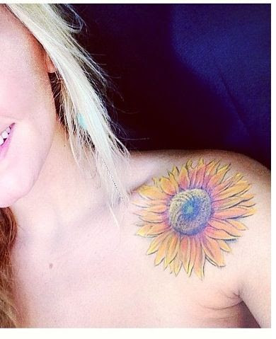 Shoulder Sunflower Tattoo Tattoomagz