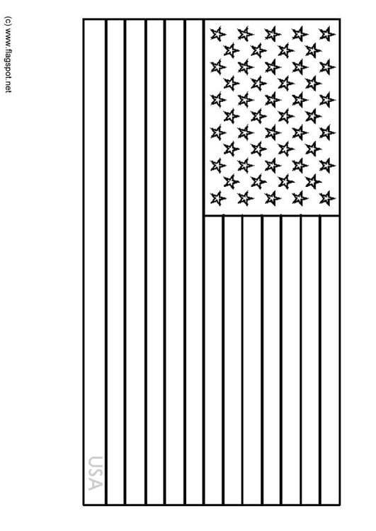 rapia kuning09 kleurplaat vlag hawaii