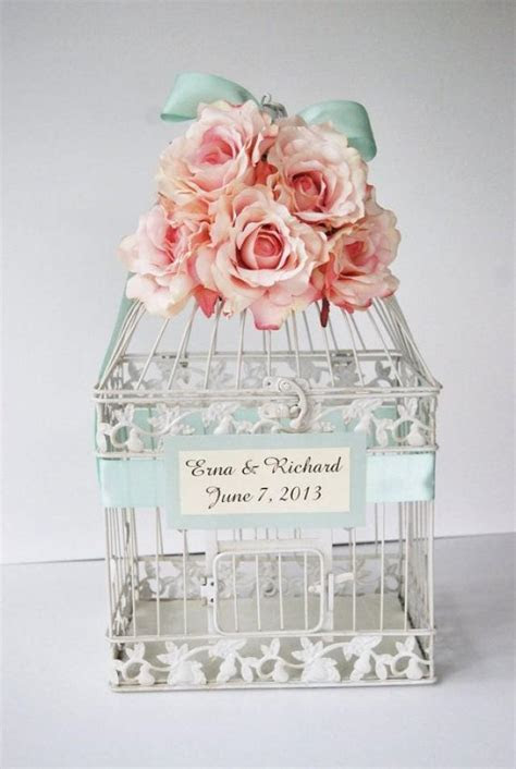 Custom LARGE Wedding Birdcage Card Holder Money Holder