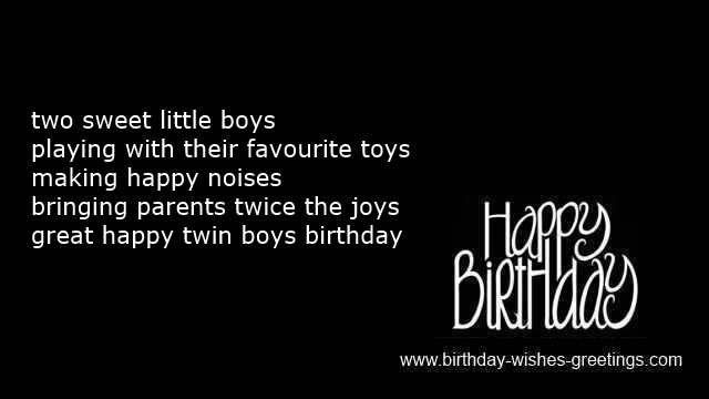 Twins Birthday Poems And First Bday Quotes And Messages