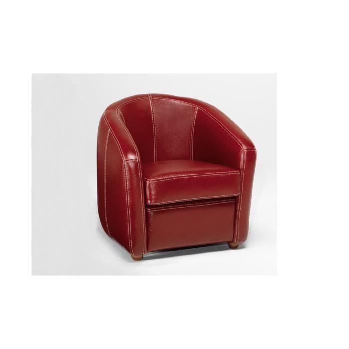 Table et chaises de terrasse Fauteuil en cuir rouge
