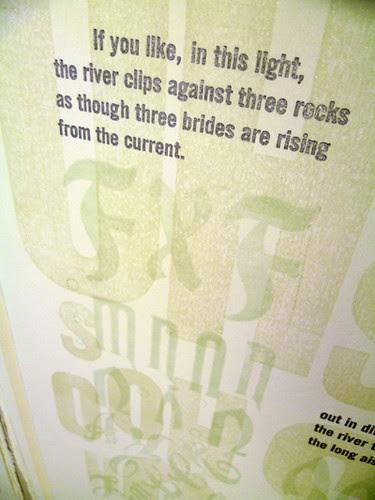 river print, top