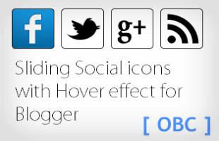 Sliding Social Icon Cool