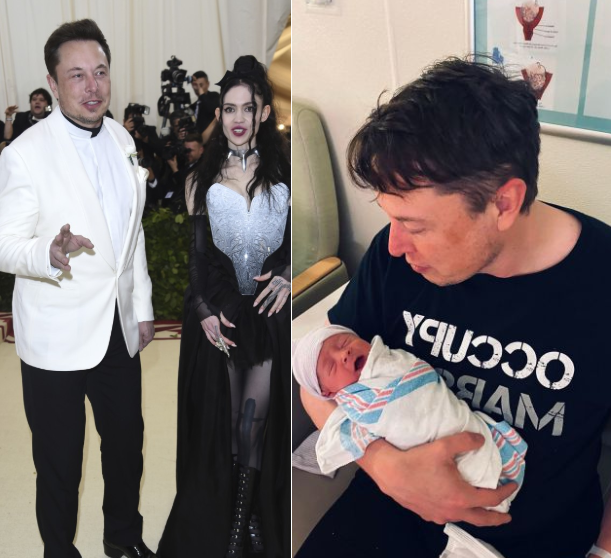 Hilarious reactions as Grimes reveals her and Elon Musk's baby is really named X Æ A-12 Musk