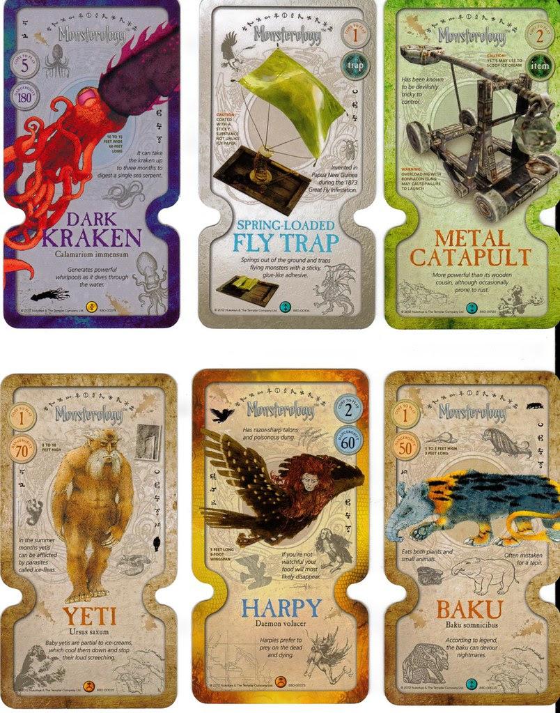 Monsterology monster cards NukoToys