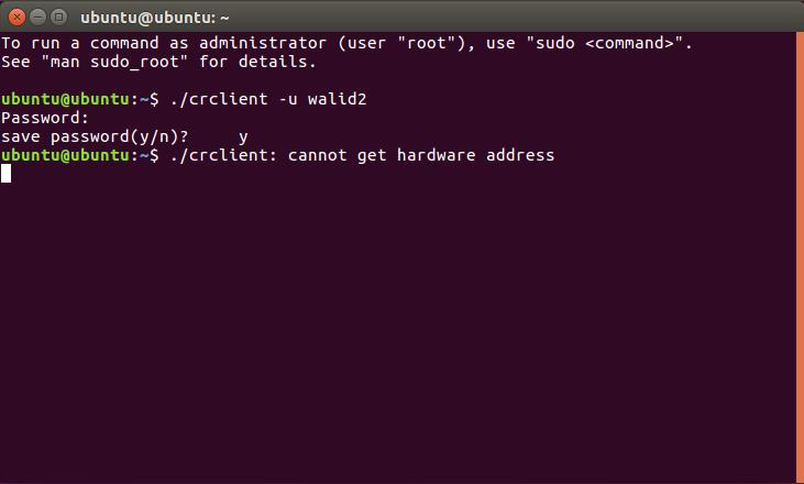 "How to solve ""cannot get hardware address"" error , Ubuntu"