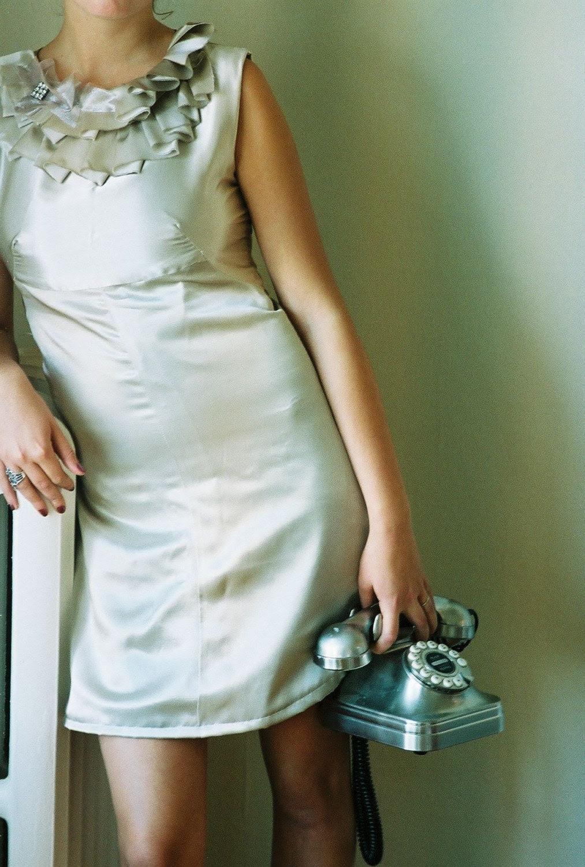 sarah seven Mocha Ruffle Dress
