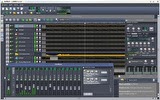 Song-Editor, FX-Mixer, Project Notes and an instrument track window