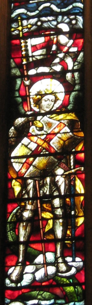 Stained Glass Window - St Michael (Detail 1)