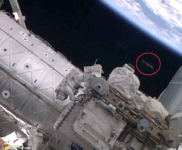 On October 7, UFO watchers said they witnessed a strange object near the station during a spacewalk by astronauts Reid Wiserman and Alexander Gerst