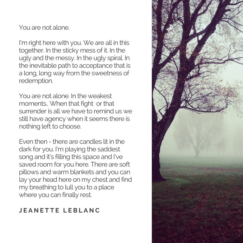 You Are Not Alone Jeanette Leblanc