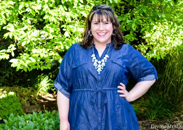 What I Wore: Chambray and Mint
