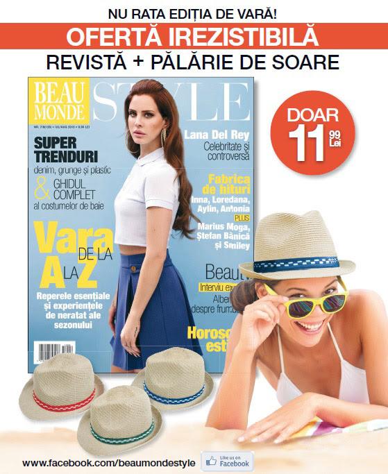 Promo pentru revista Beau Monde Style, editia Iulie-August 2013