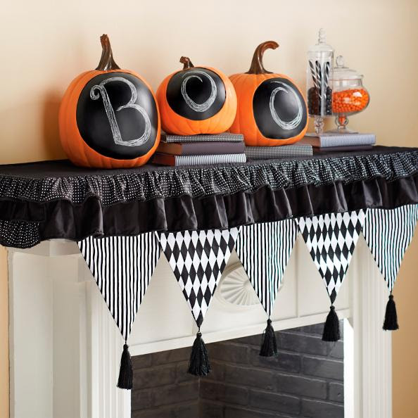 Halloween Harlequin Mantel Scarf