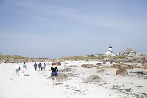 Walking through sand dunes!
