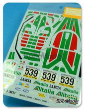 Calcas 1/24 Shunko Models - Lancia Stratos Turbo Alitalia Nº 539 - S. Munari + P.Sodano - Giro D Italia 1977 - para usar con kit de Tamiya