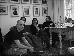 v.l.n.r.: Brantt, Guy Slabbinck, Cecilia Jaime, Sofie Muller