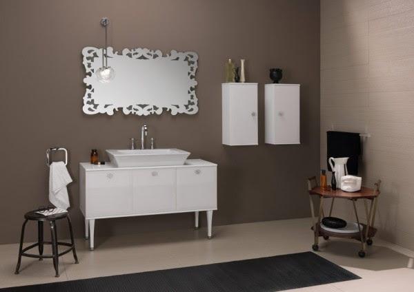 Bruna Rapisarda taupe and silver theme bathroom