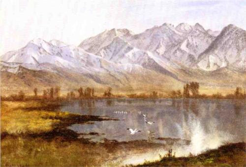 File:Wasatch Mountains, Utah oil Albert Bierstadt.jpg