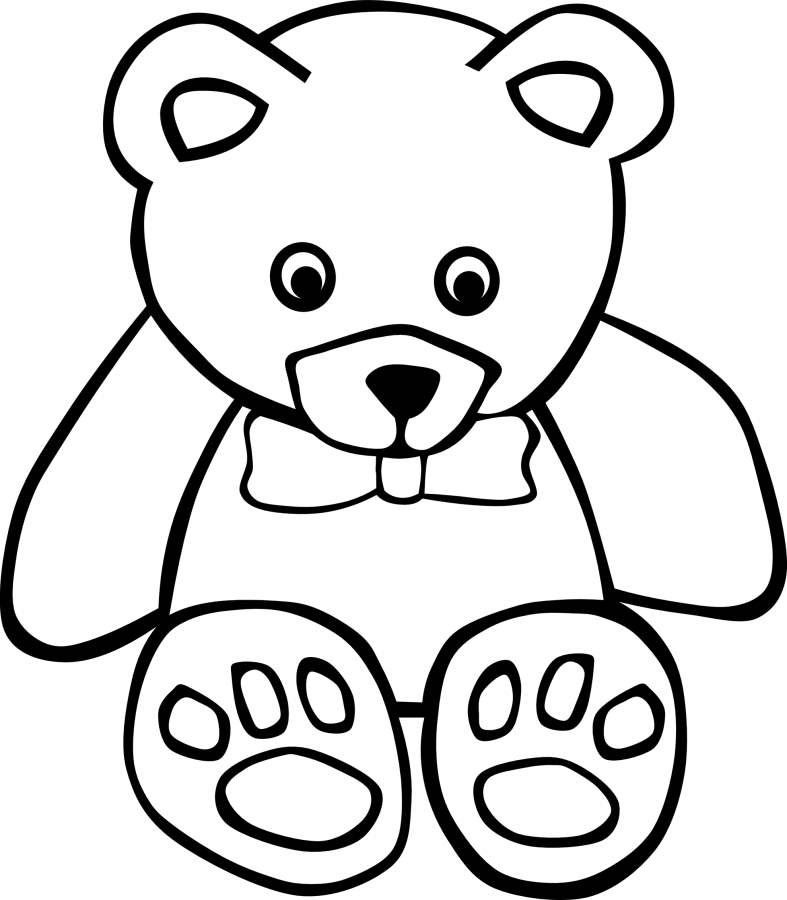 Sketsa Teddy Bear Clipartsco