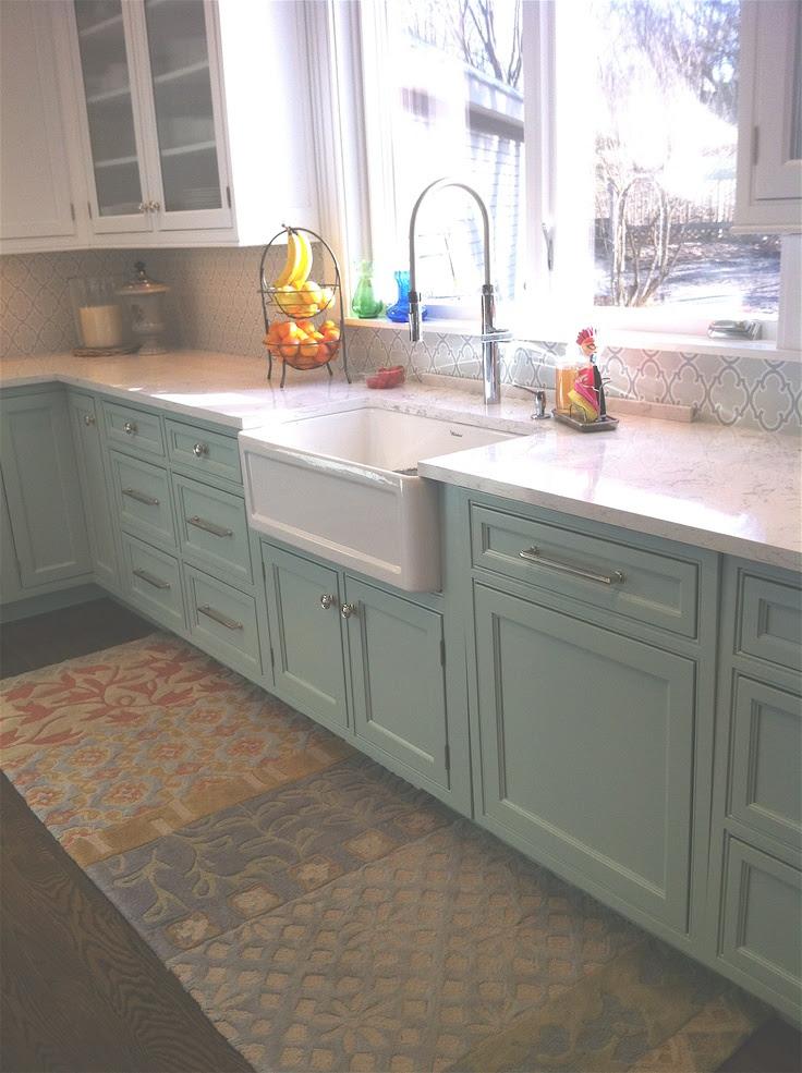 Mint green cabinets   Kitchen   Pinterest