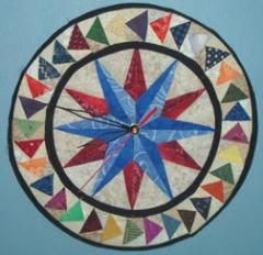 Quilted Clock - inspiration only, no pattern ... want to make one for my sewing room