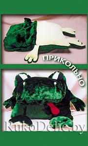 Подушка-лежанка ''Сытая жаба''