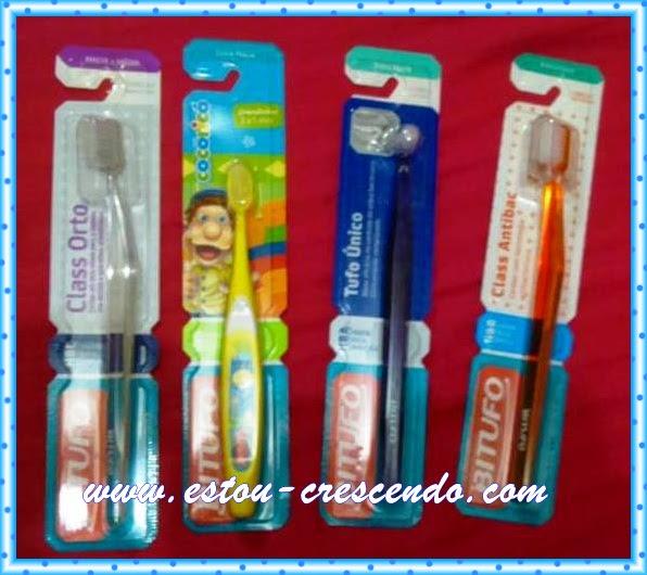 escovas de dente Bitufo