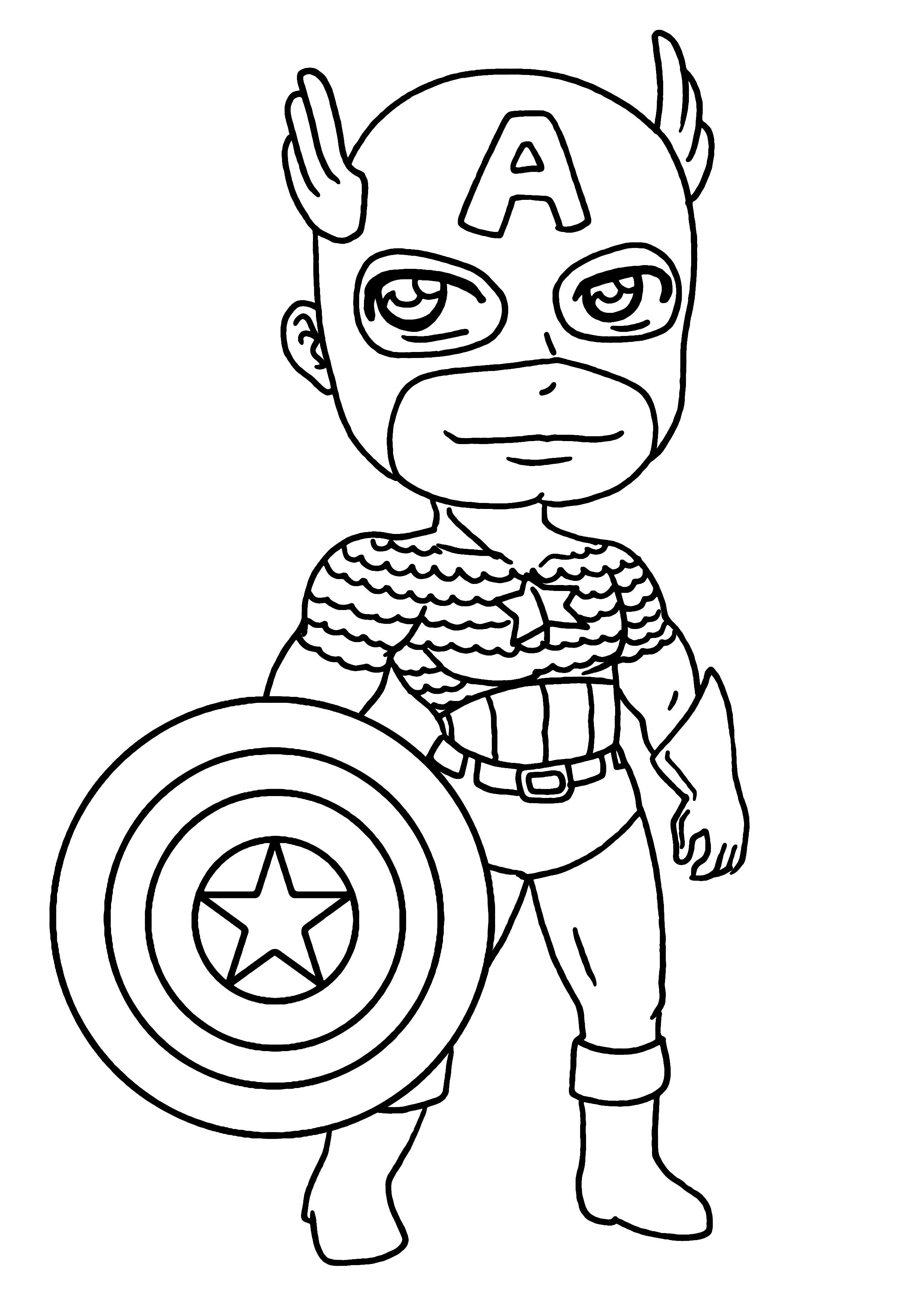 156 Dibujos De Capitán América Para Colorear Oh Kids Page 3