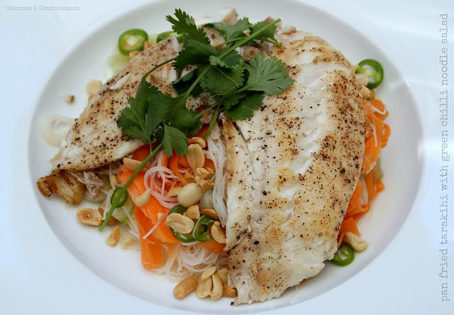Pan Fried Tarakihi with Green Chilli Noodle Salad 2