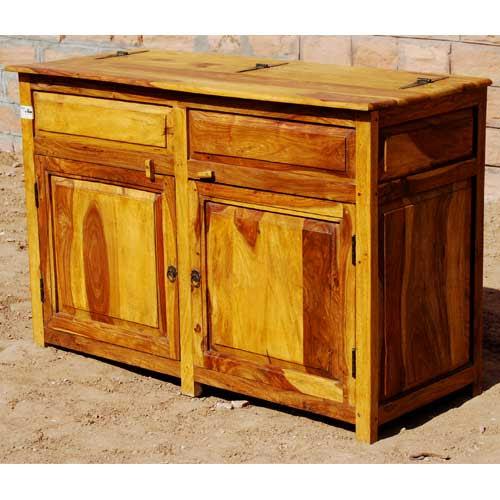 Dallas Ranch Solid Wood 2-Door Rustic Kitchen Storage ...